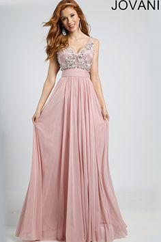 Sleeveless Empire Waist Gown 98061