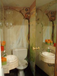 Interesante creación para el toilette de una vivienda
