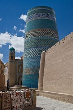 Khiva is an ancient city of approximately 50,000 people located in Xorazm Province, Uzbekistan.  It's abundant with historical places of interest.