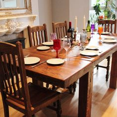 Farmhouse Extendable Reclaimed Wood Dining Room Table (image 1)