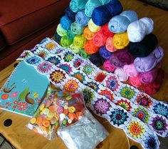 Bits and bobs - new crochet wip & colourful crafty things | Flickr