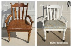 Painting and reupholstering a desk chair