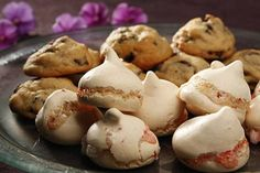 Peppermint Meringues: These festive meringues can baked in advance, frozen and either served frozen for a crisp texture or thawed for a chewier bite. Click here for the recipe. Photo: Craig Lee, Special To The Chronicle / SF