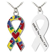 Until All the Pieces Fit™ Autism Awareness Ribbon Necklace  Daily Deal Originally $16.95, now $8.95! $8.95