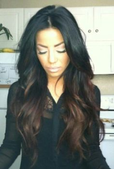 Black to Brown ombre hair African American