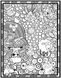 Kleurplaat dieren - Dover publications