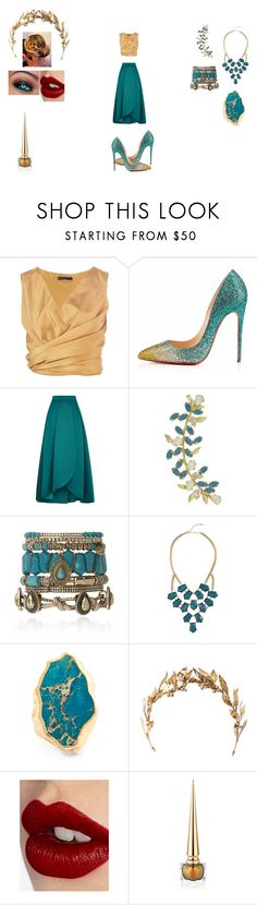"""Untitled #273"" by shanty-gordon ❤ liked on Polyvore featuring The Row, Christian Louboutin, Pinko, Joanna Laura Constantine, Samantha Wills, GUESS by Marciano, Sole Society, Laurel Wreath Collection and Charlotte Tilbury"