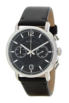 Men's Fergus Chronograph Leather Strap Watch by Marc by Marc Jacobs on @nordstrom_rack