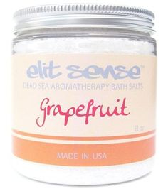 Dead Sea Bath Salts | 8 oz Grapefruit Fine Grain by Dead Sea Premier. $4.99. Made in the USA.. 100% authentic, pure & natural.. Grain size: Fine 0mm - 1.7mm.. Highly all natural premium hand-mixed bath salts.. Make a perfect gift for any occasion of the year.. Dead Sea Salts are known for their rich concentration of active minerals from the Dead Sea.  These Bath Salts are particularly ideal for deep relaxation and softening skin.  We carry only the highest quality Dead Sea sal...