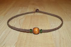 Men's Brown Hemp Choker Necklace  Brown by MidwestTexanDesigns