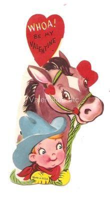 Small Grace Drayton Vintage Valentine Cowboy with Horse   eBay