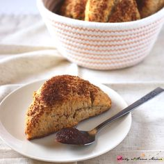 Serve these decadent apple butter scones with a generous spoonful of apple butter. The perfect fall treat for breakfast or an afternoon snack