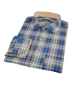 Blue and Orange Large Plaid by Proper Cloth