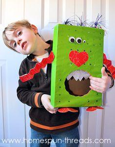 valentine box, valentine day, valentin box, monster valentin, cereal boxes
