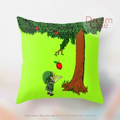 link legend of zelda and giving tree - Pillow Case 18 x 18 - Note for 16 inch