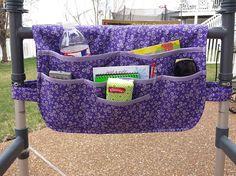Purple Posy Walker Bag Walker Bags Walker Organizer Walker