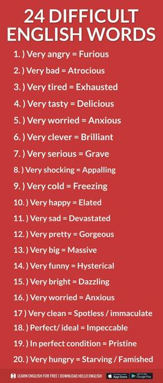 24 Dificulta English Words