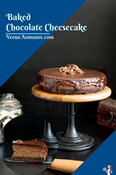 This baked chocolate cheesecake is rich, silky smooth, and loaded with chocolate in the batter as well as the glaze. You can use milk, semi-sweet, or dark chocolate cheesecake for the ultimate chocolate experience. Perfect weekend dessert or to entertain family and friends #chocolate #cheesecake #chocolatecheesecake #cheesecakechocolate #bakedcheesecake #bakedchocolatecheesecake