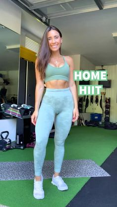 fitness Videos training - Home HIIT Cardio Hiit Workout At Home, Gym Workout Videos, At Home Workouts, Cardio Hiit, Workout Plans, Fitness Herausforderungen, Fitness Workout For Women, Fitness Workouts, Chest Workout Women