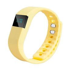 CHARAVECTOR Smart Garments Sports Sensor Pedometer Tracking Bracelet Bluetooth 4.0 Yellow. Designed for a Healthy Life: Steps Counting, Find Your Phone, SMS Reminding, Call Reminder, Incoming Calls Show, Calories Burned Measuring, and Sleep Management etc. The wristband is made of silicone, soft and skin friendly, very comfortable to wear. Using stretchy silicone material. Function: Distance Calculation, Bluetooth 4.0, Clock Display, Waterproof, Vibration Alarm, Number of Steps, Calls to...