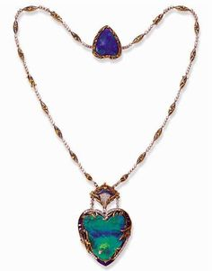 Opal necklace, c. 1900, sold for $56,000. Whoaaaaa!!! (Christie's Auction House via Ageless Heirlooms)
