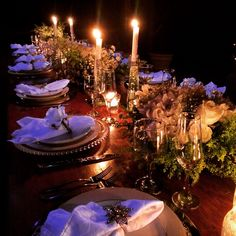 Mesa de Ano Novo! New Years tablescape