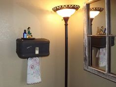 Vintage Suitcase Shelf by QuirksByAnnie on Etsy, $35.00   Everyone should check her stuff out ;)