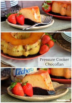This delicious Pressure Cooker Chocoflan Recipe is part flan caramel custard and part chocolate cake and it only takes 20 minutes to make. #AD #unidosconlalechera #unidoslalechera More at CleverlyMe.com