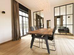 Realisatie by #http://www.ldesigndecoratie.be/ #gordijnen #vouwgordijnen #raamdecoratie  #linnen
