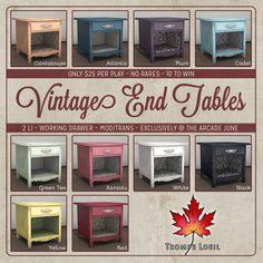 Trompe Loeil - Arcade June 2014 Vintage End Tables square