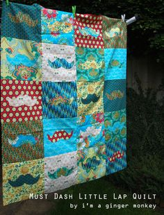 Must Dash Lap Quilt free pattern by I'm a ginger monkey