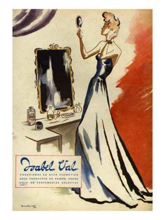 Isabel Val, Magazine Advertisement, Spain, 1942 Art Print at AllPosters.com