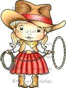 La-La Land Crafts Rubber Stamp Cowgirl Marci