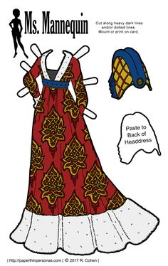 Ms. Mannequin's 15th Century Burgundian Gown and Headdress