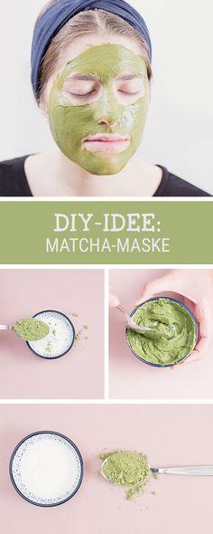 Beauty-DIY: Erholung für Deine Haut mit einer selbstgemachten Gesichtsmaske aus Matcha, beruhigende Wirkung / wellness for your skin: how to make a matcha face mask, beauty hacks via DaWanda.com