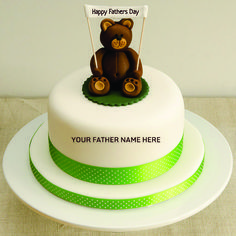 Write Your Fathers Name On Happy Fathers Day Cake