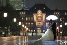 東京駅 夜景 雨 フォトウェディング,ロケーション