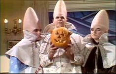 Coneheads at Halloween