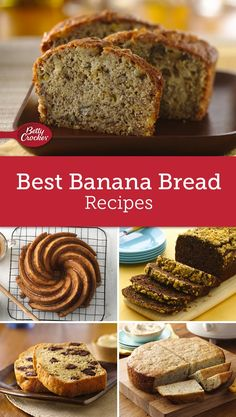 Who knew there were so many great ways to use up very ripe bananas? We've rounded up every banana bread recipe you could ever need — really! From Betty's top-rated classic banana bread to variations like whole grain, gluten-free and vegan, and flavor twists like blueberry or chocolate-peanut butter there truly is a banana bread recipe for everyone. Looking for a lighter version? Or an unexpected recipe like banana bread muffins or bundt cake? We've got those, too!