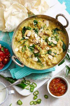 Fragrant, hearty and so delicious, this red lentil dahl with chicken is a beautiful family dinner dish. With an extra serve added to the ingredients, you'll even have enough left for lunch the next day! Savoury Recipes, Rice Recipes, Indian Food Recipes, Great Recipes, Cooking Recipes, Healthy Recipes, Ethnic Recipes, Chicken Meals, How To Cook Chicken