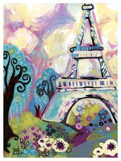 La Dame De Fer by Natasha Wescoat Painting Print