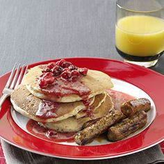 Favorite Fall Pancakes from Taste of Home :: Cranberry Pancakes Recipe