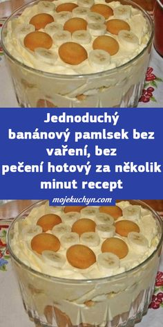 Jednoduchý banánový pamlsek bez vaření, bez pečení hotový za několik minut recept Oatmeal, Pudding, Breakfast, Food, The Oatmeal, Morning Coffee, Custard Pudding, Puddings, Meals