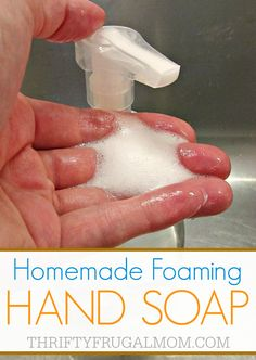 What a genius idea! This homemade foaming hand soap is super easy to make and will save you money by making your soap last longer!