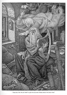 Merlin by George Wooliscroft & Louis Rhead King Arthur Merlin, King Arthur Legend, Mago Merlin, New Fantasy, Vintage Fairies, Asatru, Sword And Sorcery, Fairytale Art, Mermaid Art