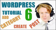 Wordpress tutorial step by step 2016  - Create a post and category