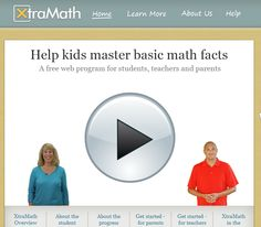 XtraMath - Free website for practicing math facts - teachers or students can set up accounts for children to track their progress