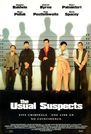 The Usual Suspects (1995) A sole survivor tells of the twisty events leading up to a horrific gun battle on a boat, which begin when five criminals meet at a seemingly random police lineup.