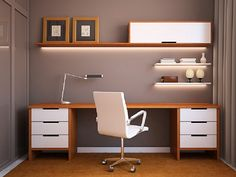 Best Home Office Ideas: Best 20 Comfortable Home Office Decoration Ideas #HomeOfficeIdeas #HomeOfficeDecorations