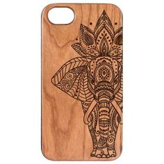 Elephant Engraved Carved Wooden Unique Case - iPhone 5 / 5S / SE